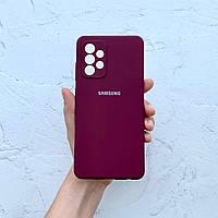 Чехол на Samsung Galaxy A52 Silicone Case марсала силиконовый / для Самсунг Гелекси А52