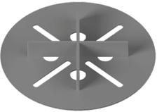 Фиксированная опора Karoapp 2 мм для фальшпола из керамогранита, дерева и решеток