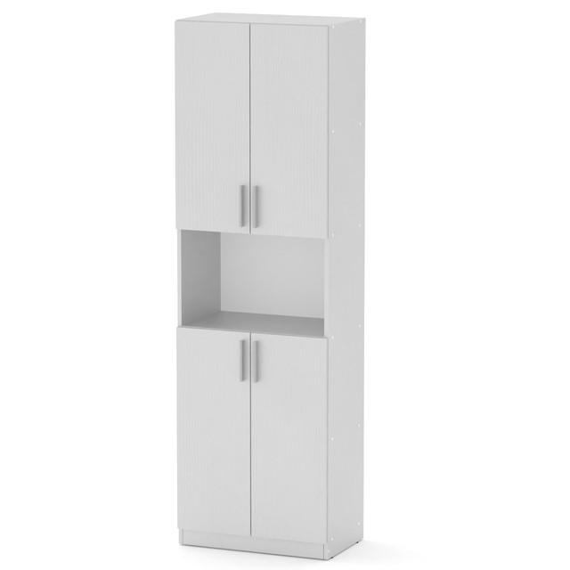 Шкаф книжный КШ-5 белый Компанит (60х37х195 см), фото 1