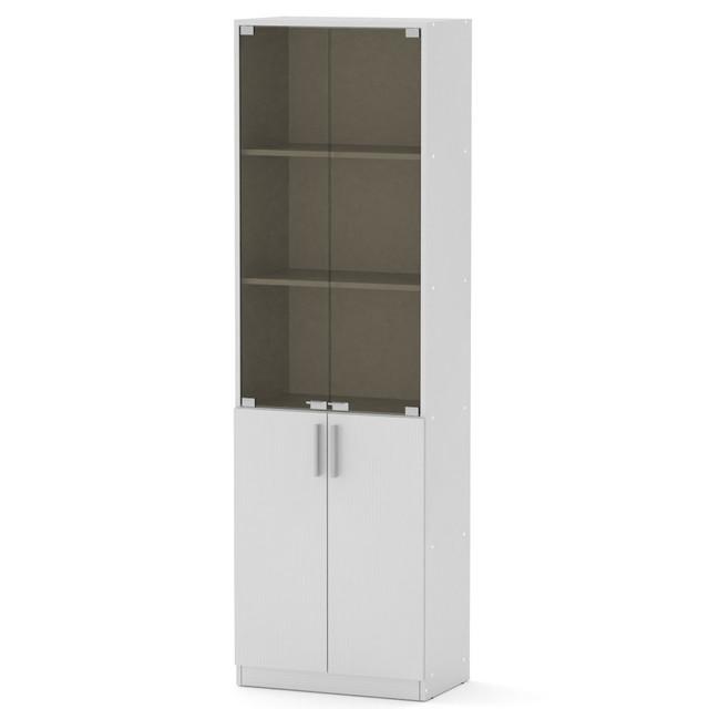 Шкаф книжный КШ-6 белый Компанит (60х37х195 см), фото 1