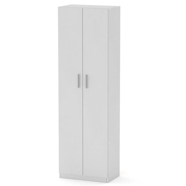 Шкаф книжный с полками КШ-7 белый Компанит (60х37х195 см), фото 1