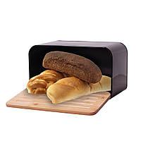 Хлебница Kamille 35х20х21.5см KM-1107 черная