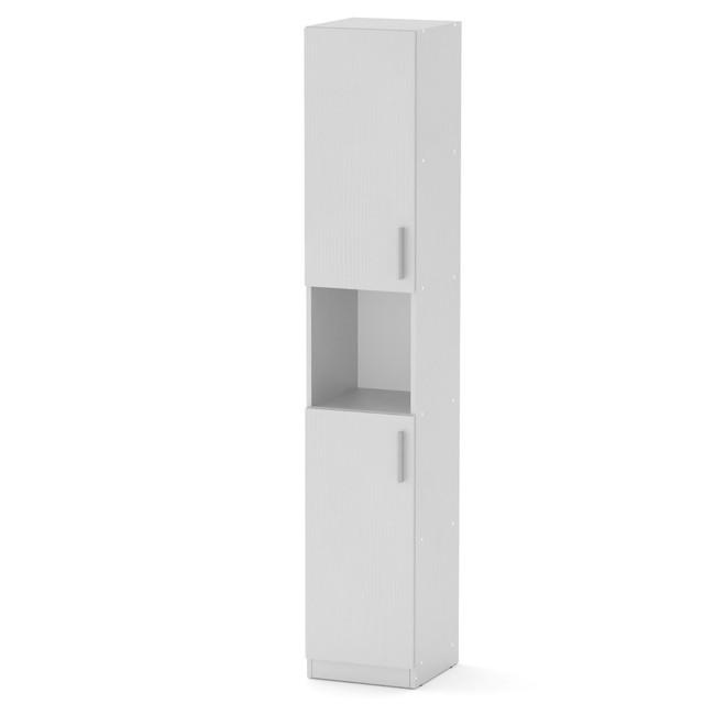 Шкаф книжный КШ-10 белый Компанит (35х37х195 см), фото 1