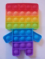 """Сенсорна іграшка Поп іт, pop it """"майнкрафт"""" з рефлеными, поп іт антистрес, поп-іт, (pop It) разів:16х11,5 см"""