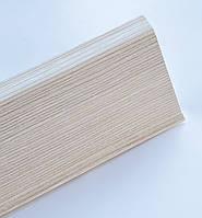 Плинтус пластиковый Идеал Деконика 85 мм 255 Ясень Бьянко, с мягкими краями, высокий, с кабель каналом