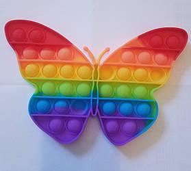 """Сенсорна іграшка Поп іт, pop it """"метелик"""" з рефлеными, поп іт антистрес, поп-іт, (pop It)"""