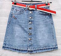 """Спідниця жіноча джинсова на гудзиках, розміри 25-30 """"RELUCKY"""" купити недорого від прямого постачальника"""