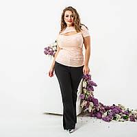 Женская приталенная футболка с вырезом на груди, фото 1