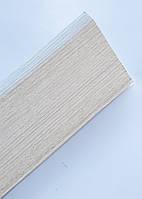 Плинтус пластиковый Идеал Деконика 85 мм 265 Клен Патина, с мягкими краями, высокий, с кабель каналом