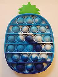 """Сенсорная игрушка Поп ит, pop it """"ананас"""" с рефлеными буквами и цифрами,поп іт антистресс, поп-ит, (pop It)"""