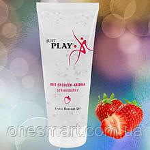 """Массажный лубрикант на водной основе с ароматом клубники Just Play """"Strawberry"""" от Orion 200 мл. (Германия)"""
