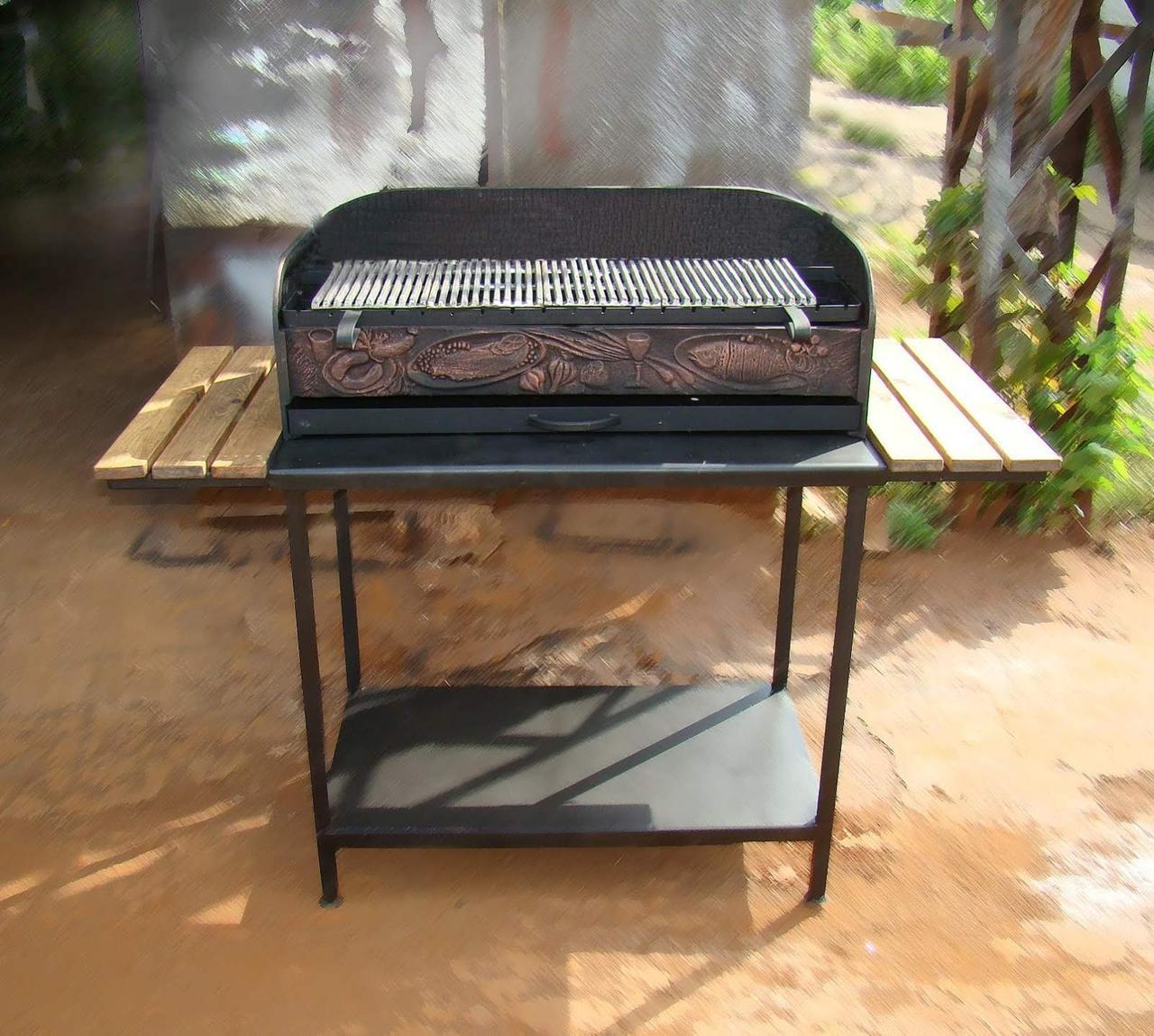Стіл-підставка для чавунного мангалу