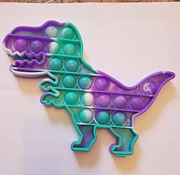 """Сенсорная игрушка Поп ит, pop it """"динозаврь"""" с рефлеными,поп іт антистресс, поп-ит, (pop It)"""