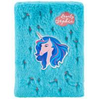 Блокнот Kite пухнастий Lovely Sophie А5 80 аркушів в клітинку Блакитний (K20-286-1)