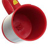 Чашка мешалка автоматическая с вентилятором Self Stirring Mug кружка самомешалка на батарейках, фото 2