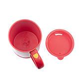 Чашка мешалка автоматическая с вентилятором Self Stirring Mug кружка самомешалка на батарейках, фото 4