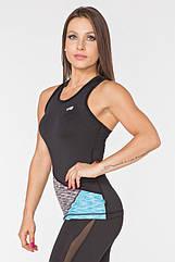 Женская спортивная майка Radical Reaction Tank Top M Черно-синяя (r0849)
