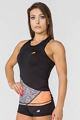 Женская спортивная майка Radical Reaction Tank Top L Черно-оранжевая (r0847)