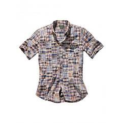 Сорочка Eddie Bauer Mens Patchwork Short Sleeve Shirt MULTI S Комбінований (7341573MT-S)