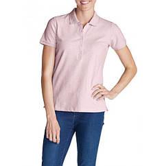 Футболка-поло Eddie Bauer Womens Polo Shirt Short Sleeve HTR LILAC S Розовый (7285HLC-S)