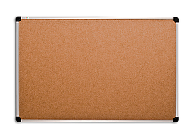 Дошка пробкова 65x100 см ABC Office, в алюмінієвій рамці S-line. пробкова дошка, дошка для нотаток, коркові