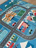 """Безкоштовна доставка! Килим в дитячу """"Колесо огляду"""" утеплений килимок 190 на 240 см, фото 5"""