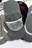 8018 Подследник хлопковый, мужской (уп.15 шт.) силикон, фото 3