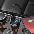 Адаптер автомобільний HOCO lightning cable Farsighted dual port QC3.0 car charger set Z39, фото 4