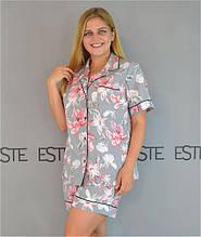 Комплект рубашка и шорты для сна и дома Este 727 большие размеры.
