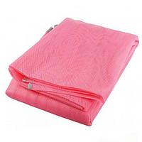 Пляжный коврик анти песок Sand Mat 150 см, розовый