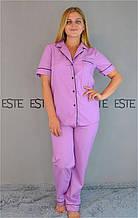 Хлопковая пижама женская рубашка и штаны Este .