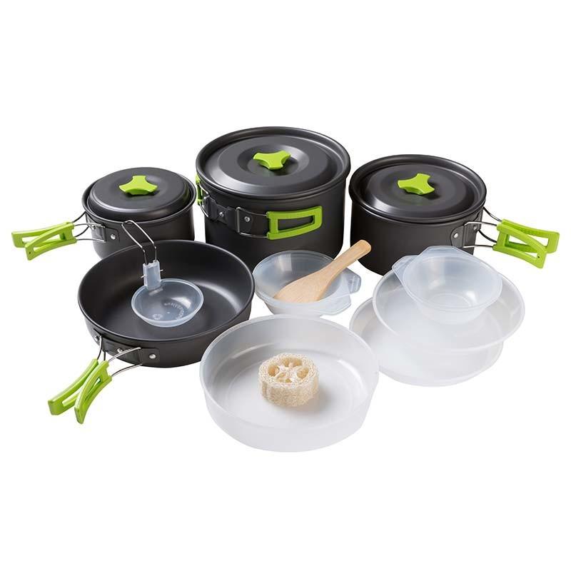 Набір посуду туристичний алюмінієвий (4-5 чол.) MX-500