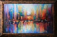 Картина городского пейзажа «Огни большого города»