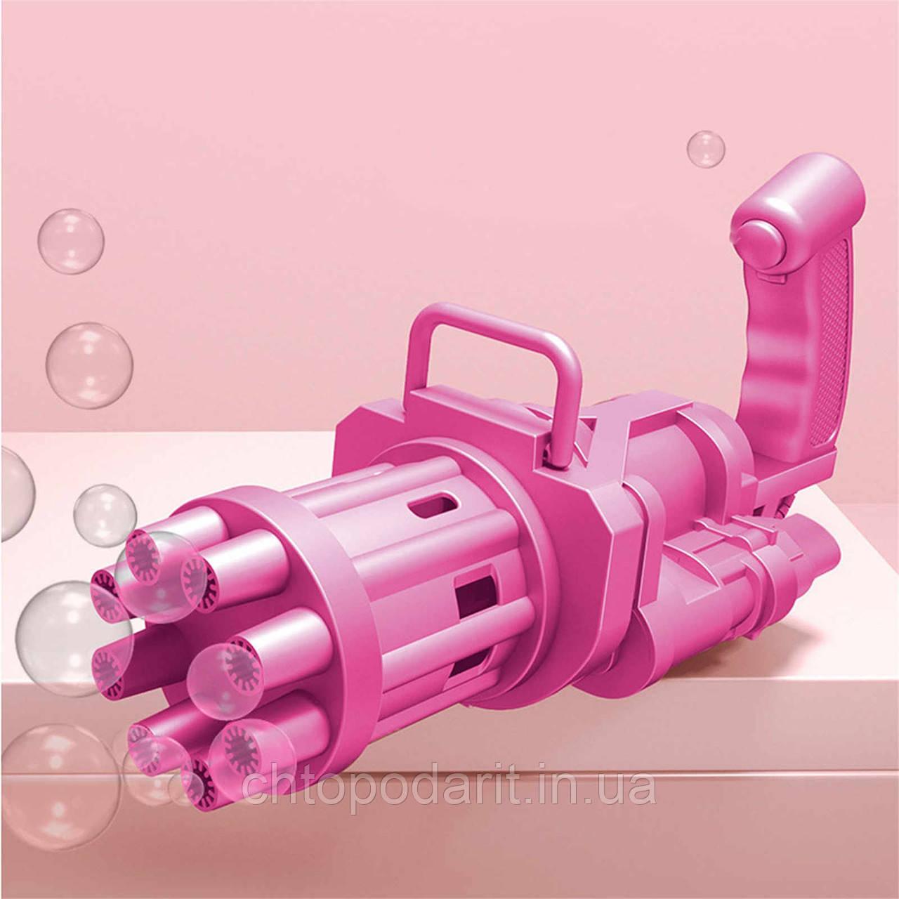 Кулемет генератор мильних бульбашок BUBBLE GUN BLASTER машинка для бульбашок автомат чорний код 10-1037