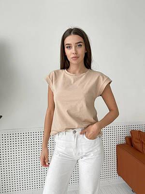 Жіноча базова бежева футболка