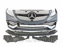 Передній бампер AMG на Mercedes-Benz GLE-Class W166 2015-2018 рр