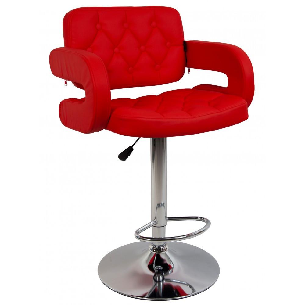 Барний стілець HOKER VIA з Підставкою для ніг(120 кг навантаження)ЧЕРВОНИЙ