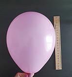 Набор воздушных розовых шаров для украшения автомобиля на зеркалах - 10 шт.+ 1 м серебряной ленты, фото 3