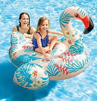 Дитячий надувний пліт для катання Intex 57559 «Фламінго» (142 х 137 х 97 см), фото 2