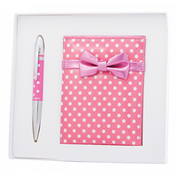 Ручка кулькова Langres набір ручка кулькова + дзеркало Monro Рожевий (LS.122036-10)