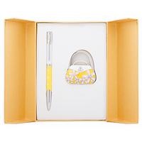 Ручка шариковая Langres набор ручка + крючок для сумки Sense Желтый (LS.122031-08)