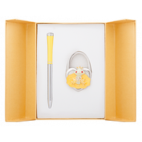 Ручка кулькова Langres набір ручка + гачок для сумки Fairy Tale Жовтий (LS.122027-08)