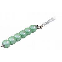 Ручка кулькова Langres з ланцюжком Secret з кристалами Синя 0.7 мм Зелений корпус (LS.401021-04)
