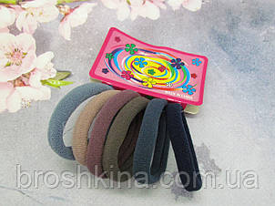 Гумки для волосся мікрофібра Ø4 см 12 набір/уп.