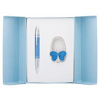 Ручка кулькова Langres набір ручка + гачок для сумки Lightness Синій (LS.122030-02)