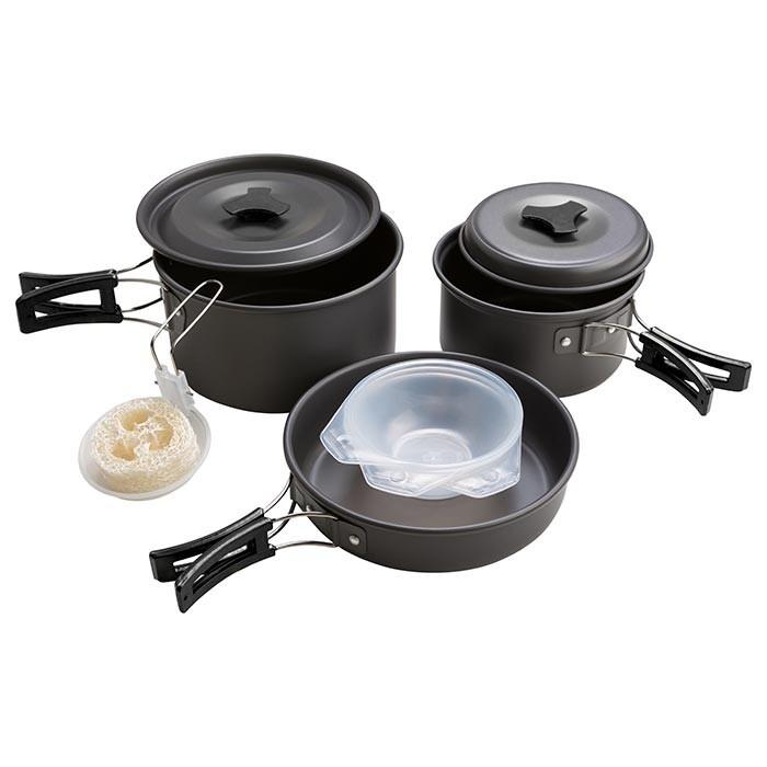 Набір посуду туристичний алюмінієвий  MX-300