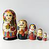 Матрьошка українська сім'я , дерево , розпис , 18 див.