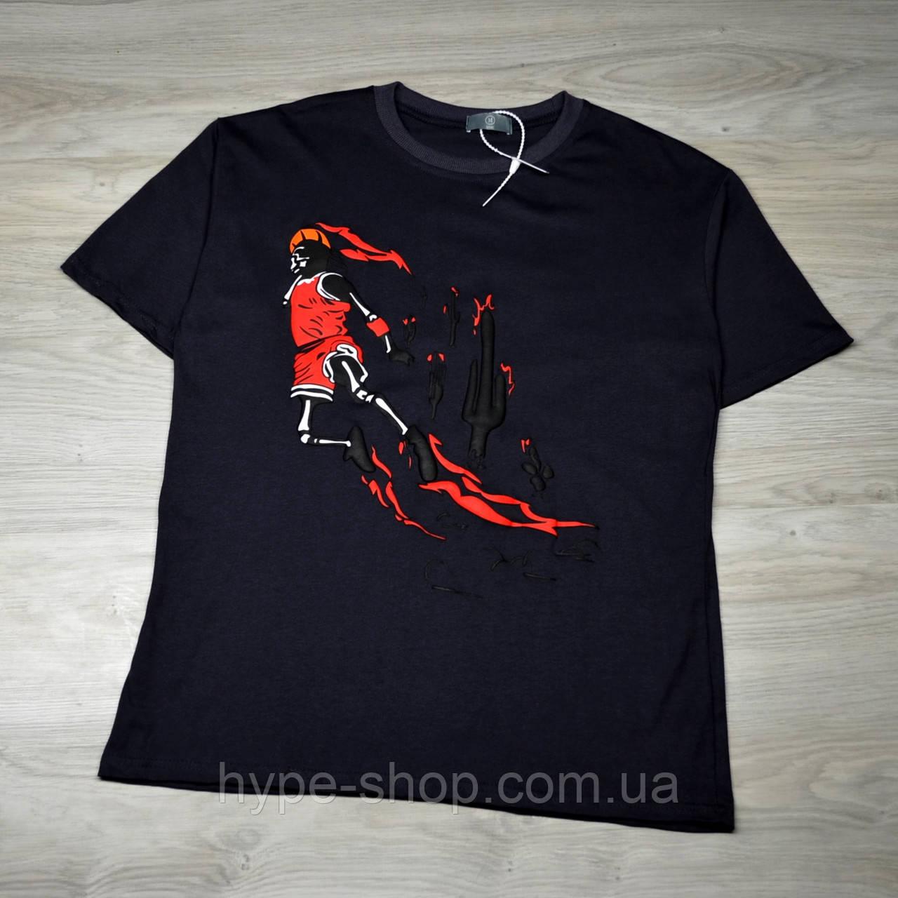Мужская футболка Travis Scott x Jordan dark grey с качественным принтом