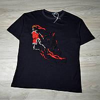 Мужская футболка Travis Scott x Jordan dark grey с качественным принтом, фото 1