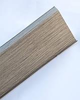 Плинтус пластиковый Идеал Деконика 85 мм 275 Cосна Оливье, с мягкими краями, высокий, с кабель каналом